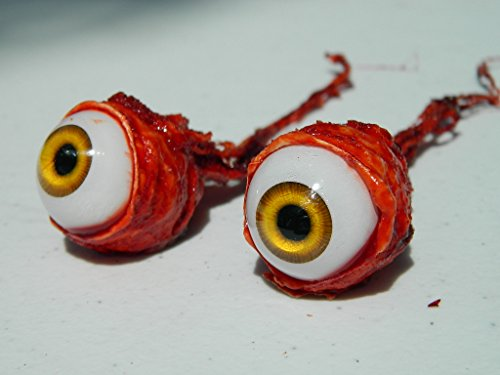 Pair of Realistic Life size Bloody Ripped Out Eyeballs - Halloween props - FW01 ()
