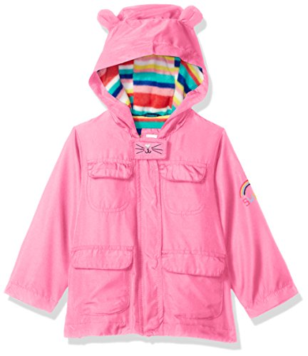 Carter's Little Girls' Critter Midweight Jacket, Pink Kitty, 5/6 Little Kitty