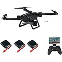 Goolsky JIE-STAR X8TW 0.3MP Camera Wifi FPV Foldable Selfie Drone Barometer Height Hold G-Sensor RC Quadcopter with Two Extra Battery