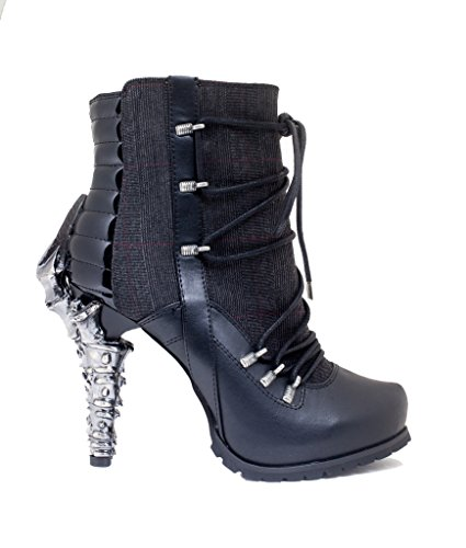 Boots Inspired Front w Shoes Biker Hades Shade Adjustable Red Laces Ankle xt8TXAqP