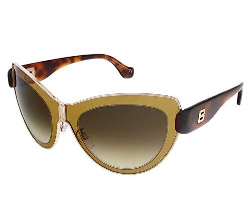 Balenciaga Women's Cat Eye Gold-Tone and Brown - Foxy Sunglasses