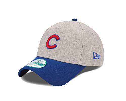 Cubs Logo Baseball - New Era MLB Chicago Cubs The League Heather 9Forty Adjustable Cap, One Size, Heather