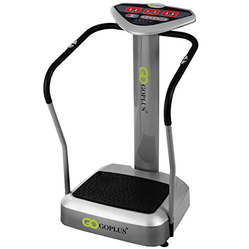 Goplus Full Body Vibration Platform Machine Crazy Fit Massage Fitness Slim, Gray