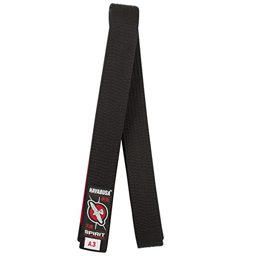Hayabusa Cotton Jiu Jitsu Belt, Black, A0