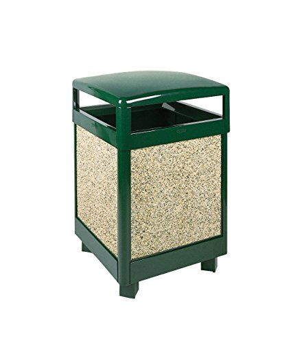 (Rubbermaid Commercial Products Aspen Series Refuse Receptacle (Hinged Top, 45-Gallon) (FGR48HT202PL))