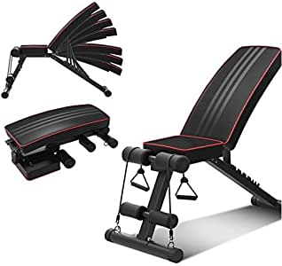 Genconnect Foldable Gym Bench,Multi-colored