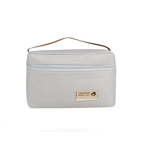 Portable Thermal Insulated Cooler Bag Mini Small Lunch Box Bag for Kids insulated Lunch Bag For Primary School Students Insulated Snack Bag For Kids Small (Gray) - Mini Lunch Bag