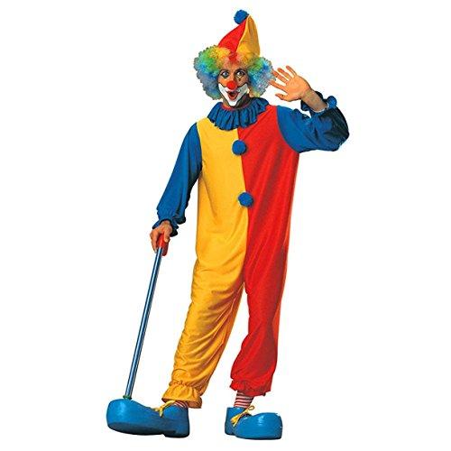 Adult Unisex Big Top Clown Costume Purple Polka Dot Jumpsuit Collar Hat