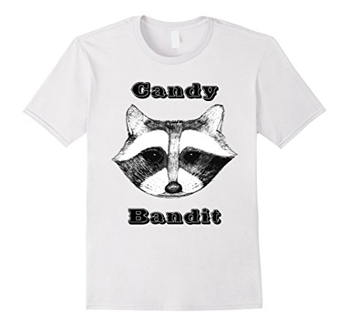 Mens Candy Bandit Raccoon Face Shirt Funny Animal Halloween Shirt 3XL White - Very Quick And Easy Halloween Costumes