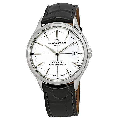 Baume et Mercier Clifton Baumatic 5 Day Chronometer Automatic White Dial Men's Watch 10436