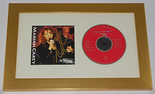 Mariah Carey MTV Unplugged Signed Autographed Music Cd Cover Compact Disc Framed Display Loa