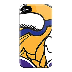 High Quality Cell-phone Hard Covers For Iphone 6 (Jcw12036YICe) Customized High-definition Minnesota Vikings Pattern