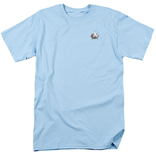 Star Trek Next Generation Costume Shirt (Star Trek Next Generation Science Emblem Uniform Costume Sci Fi TV Show T-Shirt Tee L)