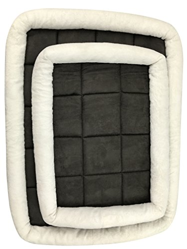 Suede Dog Carrier (Crate Mat For Dog & Puppy – Plush Suede Pillow & Bed Mattress. Durable & Washable Pad For Ultimate Pet Comfort, by Petbyrn)