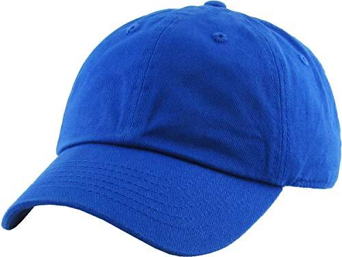 - H-100kids-57 Low Profile Kids Baseball Cap: Royal Blue, 2-5