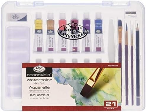 Royal & Langnickel RSET-ART3102 - Kit de acuarelas (12 tubos de acuarela, cepillos, afilador): Amazon.es: Oficina y papelería