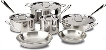All-Clad 10-Piece Tri-Ply Bonded Stainless Steel Cookware Set
