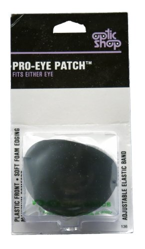 Pro-Eye Patch--Plastic Front Black Eye (Plastic Eye Patch)