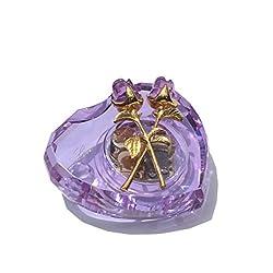 Purple Crystal Music Box Plays <b>'</b>You Are So Beautiful to Me<b>'</b>