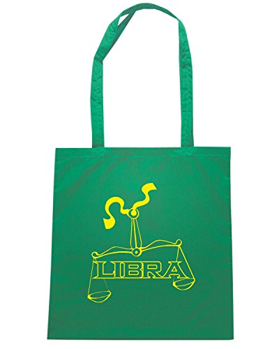 T-Shirtshock - Bolsa para la compra T0226 LIBRA bilancia religioni celtic Verde