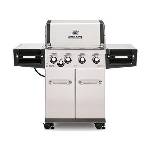 Broil King Regal S440 Pro  – Stainless Steel – 4 Burner Propane Gas Grill