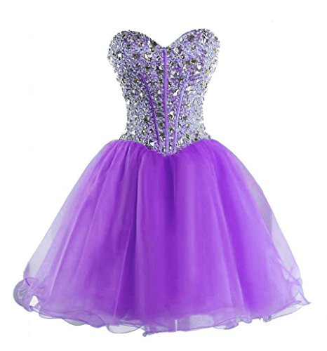 Price comparison product image Snowskite Women's Sweetheart Short Beading Homecoming Party Prom Dress Lilac 0