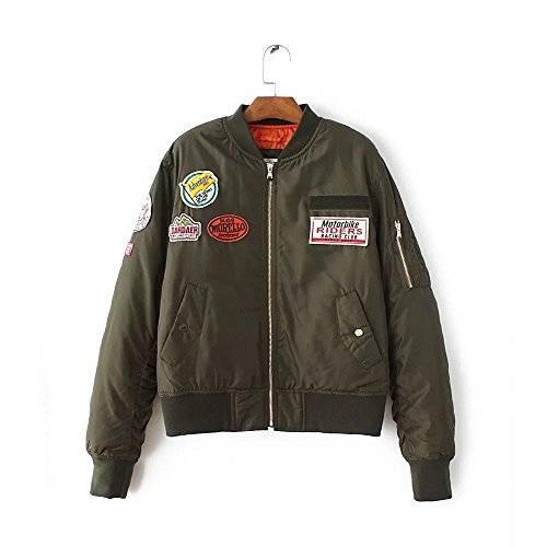 Lsm-Jacket Women's Regular Short Down Jacket Thickened Loose Cotton Coat Military Green