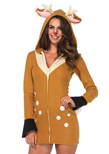 Leg Avenue Women's Cozy Cute Fawn Dress Costume, Brown/Khaki, Large