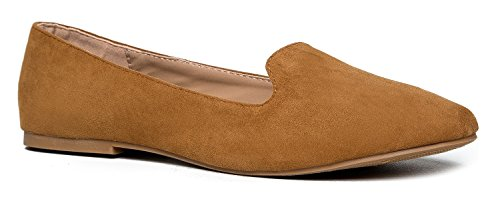 61d91ae1e9d Classic Slip On Loafer - Women s Comfortable Low Flats - Diana Casual Penny  Loafer Comfort Walking