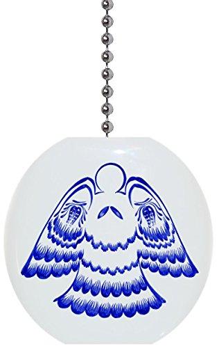 - Folk Art Angel Solid Ceramic Fan Pull