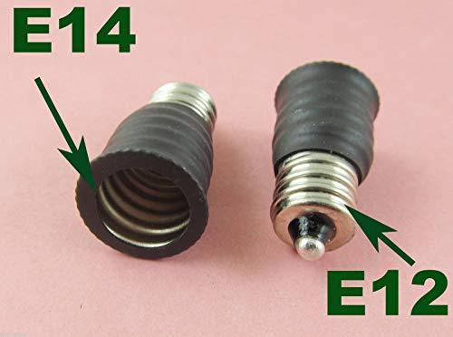 US E12 to European E14 Candelabra Base Socket LED Light Bulb