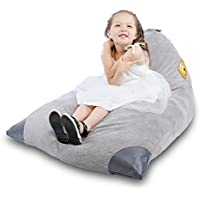 Premium Corduroy Stuffed Animal Storage Bean Bag Chair, Soft Toy Organizer with Extra Side Bag, Fit 60-80 Stuffed Animals or 200 Liter/52 Gal of Other Filler (XL)