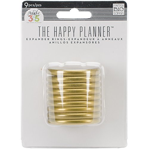 Me & my BIG ideas Create 365 The Happy Planner Expander Rings, Gold