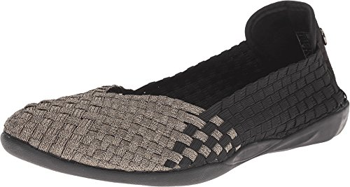 Slip Bronze On (Bernie Mev Women's, Catniss Slip on Shoe Black/Bronze 3.6 M)