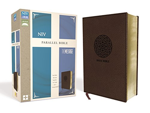 NIV, The Message, Parallel Bible, Leathersoft, Brown: Two Bible Versions Together for Study and Comparison