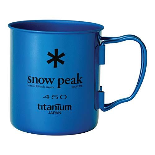Snow Peak Men's Single Wall 450 Mug, Blue, One Size
