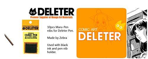 Zebra Manga Pen Nib Maru Pen - 10pc by Zebra Technologies