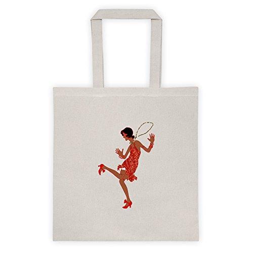 red black flapper Tote bag (Red Flapper Bag)