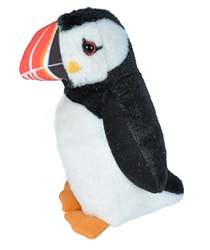 Wild Republic Audubon Birds Atlantic Puffin Plush with Authentic Bird Sound, Stuffed Animal, Bird Toys for Kids and Birders