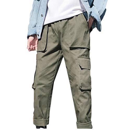 [해외]Winwinus 남성 카고 바지 플러스 사이즈 Tenths 스트레이트 캐주얼 바지 / Winwinus Mens Cargo Pants Plus Size Tenths Straight Casual Trousers