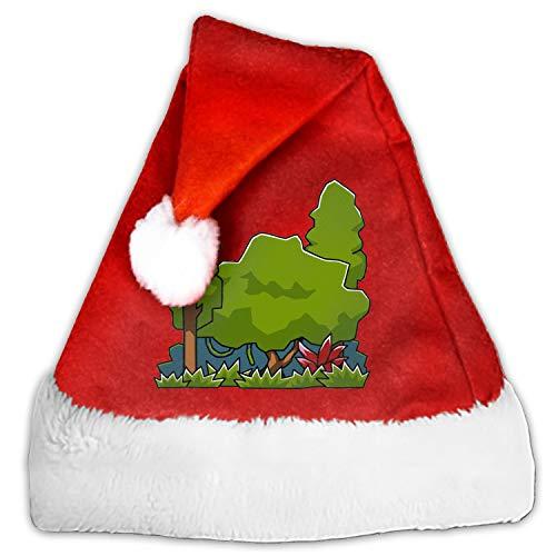 Jungle Christmas Bulb Plush Santa Hat for Adults and Kids ()