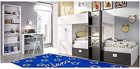 HABITMOBEL Juego de Dormitorio Infantil, Cama con Armario ...