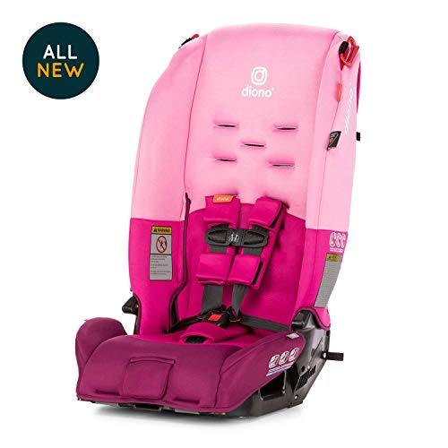 Diono Radian 3R, All-In-One Convertible Car Seat , Extended-rear Facing 5-40 lbs, Farward-Facing to 65 lbs, Booster to 100 lbs, Fits 3 Seats Across, Pink
