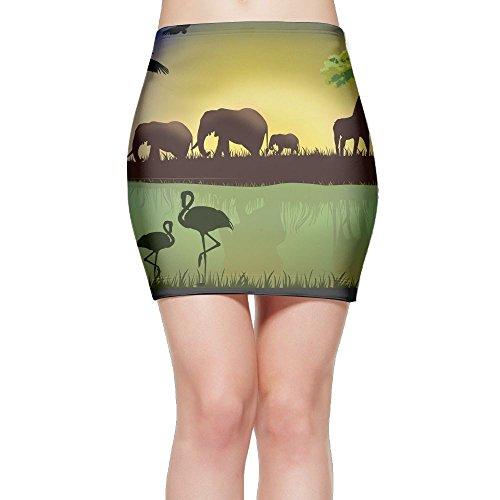 Cheap Lady Bottom Tights Mini Skirt Dress Animals Flamingo Wildlife hot sale