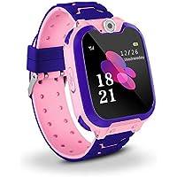 Jaybest Niños SmartWatch Phone -Niños Impermeable Smartwatch con rastreador de LBS con de Llamada SOS cámara Pantalla táctil Juego Smartwatch Childrens Gift (Pink)