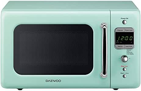 Daewoo Retro Microwave Oven, 0.7 cu. ft., 700W, Mint Green