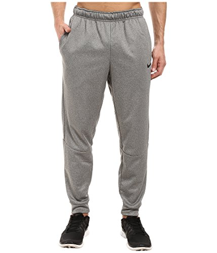 Nike Mens Therma Tapered Sweatpants Carbon Heather/Black 800193-091 Size Small