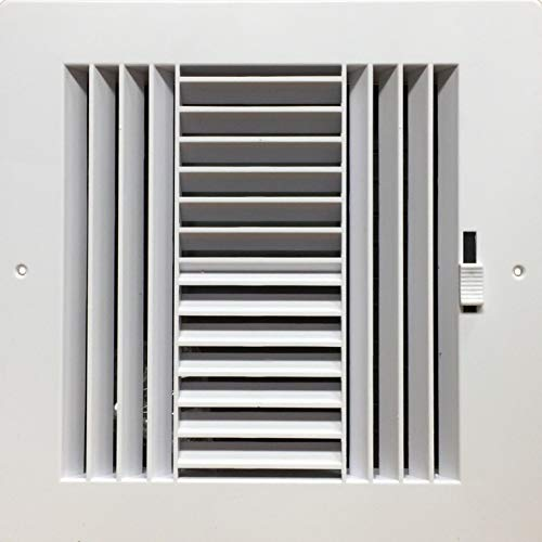 - HBW Four-Way Plastic Side Wall/Ceiling Register in White 8