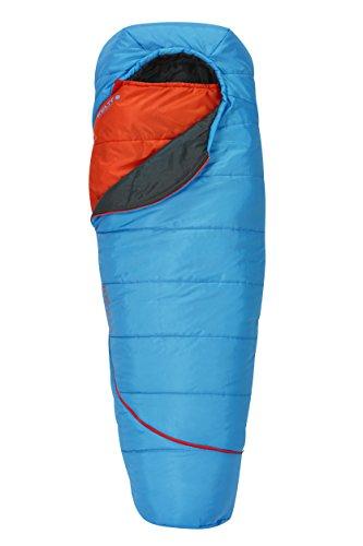 Kelty Boys TRU Comfort 35 Degree Sleeping Bag, Paradise Blue/Fire Orange