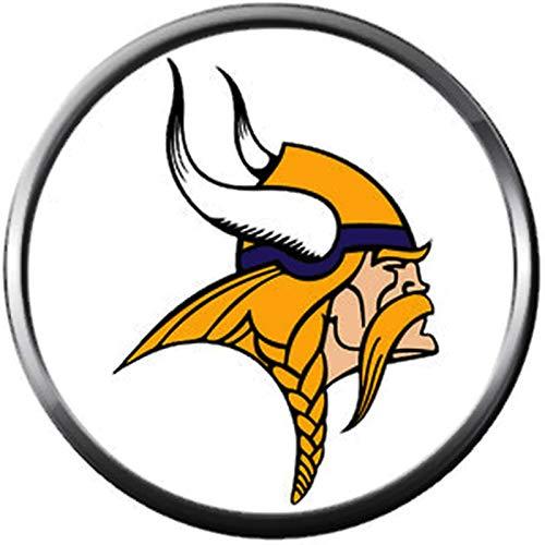 (NFL Minnesota Vikings Viking Logo Football Game Lovers Team Spirit 18MM - 20MM Fashion Jewelry Snap)